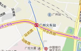 地图,广州火车站
